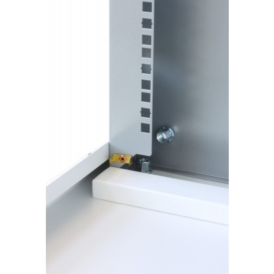 """19"""" Rack Cabinet Ideal for Photovoltaic Accumulators 8U P600mm White - Techly Professional - I-CASE EE-2008WH6-13"""