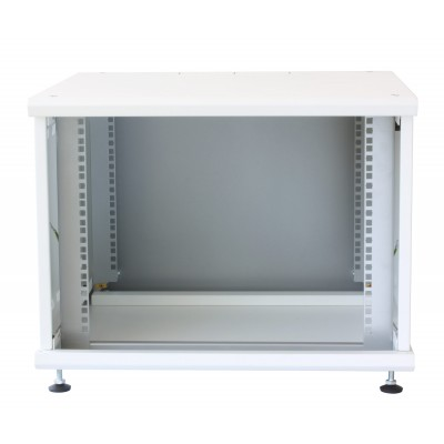 """19"""" Rack Cabinet Ideal for Photovoltaic Accumulators 8U P600mm White - Techly Professional - I-CASE EE-2008WH6-1"""