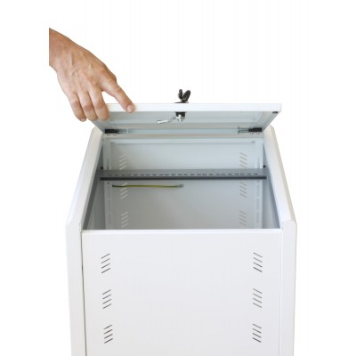 """19"""" Rack Cabinet Ideal for Photovoltaic Accumulators 8U P600mm White - Techly Professional - I-CASE EE-2008WH6-9"""
