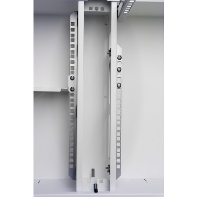 "19"" Ghost rack cabinet with White blind door - Techly Professional - I-CASE EJ-2512WHC-11"