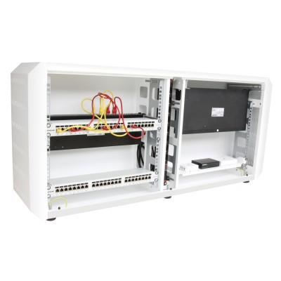 "19"" Ghost rack cabinet with White grilled door - Techly Professional - I-CASE EJ-2512WHV-6"
