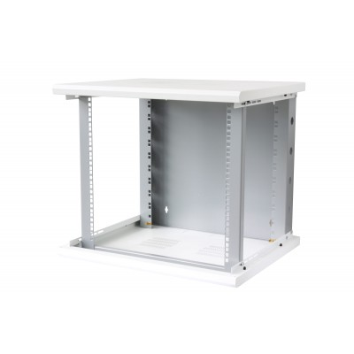 "19"" Wall Rack Cabinet 10 Units Single Section 600mm depth White - Techly Professional - I-CASE EW-2010WH6-3"