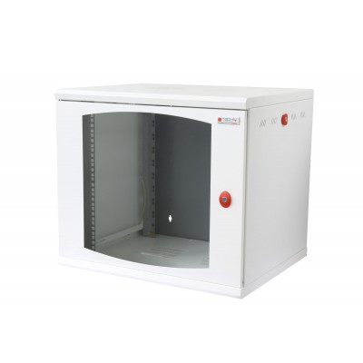 "19"" Wall Rack Cabinet 10 Units Single Section 600mm depth White - Techly Professional - I-CASE EW-2010WH6-1"