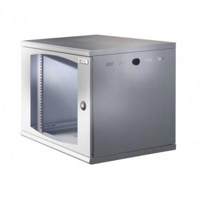 "19"" Rack cabinet, 13 units, single section, depth 500mm Black  - Techly Professional - I-CASE EW-2012BK5-7"