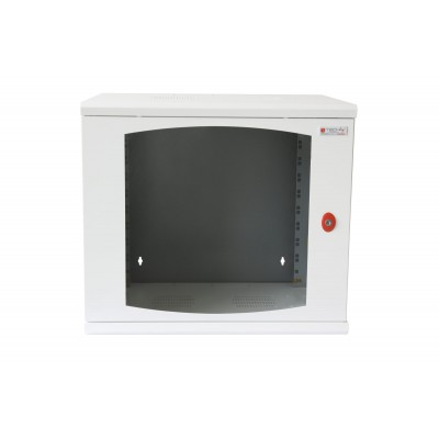 "19"" Wall Rack 13 Units Single Section 600mm Depth White - Techly Professional - I-CASE EW-2013WH6-1"