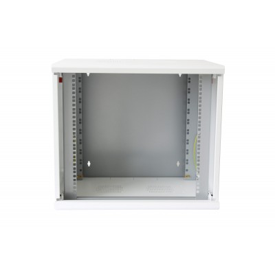 "19"" Wall Rack 16 Units Single Section 600mm Depth White - Techly Professional - I-CASE EW-2016WH6-3"