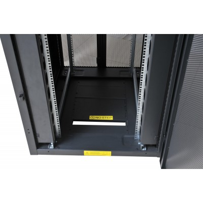 """NetRack Cabinet 19"""" 600x1000 42 Units Vented ports Black in Flat Pack  - Techly Professional - I-CASE FP-42VTBK2-4"""