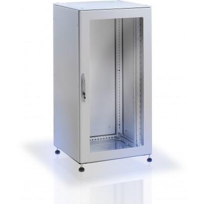 Ip55 Floor Cabinet 19 42u Grey With Glass Door Industrial