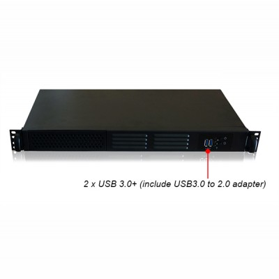 1U most compact Rackmount/Desktop Chassis 250 mm Depth - Techly - I-CASE IPC-125D-2