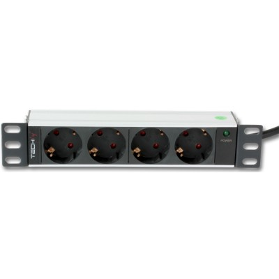 """PDU with 4 Schuko outlets for 10"""" Rack Cabinet  - Techly Professional - I-CASE M10-4D-1"""