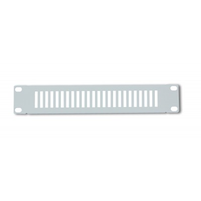 """Blank Panel vented 1 HE for 10"""" Cabinet Grey  - Techly Professional - I-CASE M10-BLANK-V-1"""