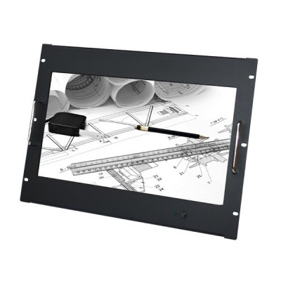 "Touchscreen Monitor 8U for Rack 18.5"" Full HD Black - Techly Professional - I-CASE MONI-TOU185-1"