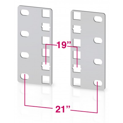 Pair of reducer brackets for ETS cabinets 2U - Techly Professional - I-CASE RAIL-ADP2ETG-1
