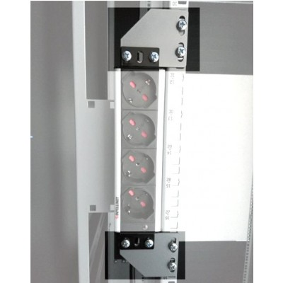 Brackets for vertical mounting on rack uprights - Techly Professional - I-CASE SUPP-3G1U-0