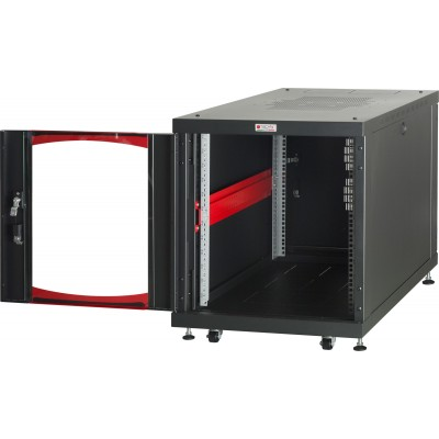 "Under-desk Server Rack 19"" Rack 600x1000 12 Units Black - Techly Professional - I-CASE SVR-I1210BK-3"