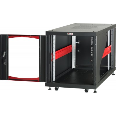 "Under-desk Server Rack 19"" Rack 600x1000 12 Units Black - Techly Professional - I-CASE SVR-I1210BK-4"