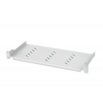 Shelf for Rack 19 '' 150 mm 1U White 2 points - Techly Professional - I-CASE TRAY-150WH-1