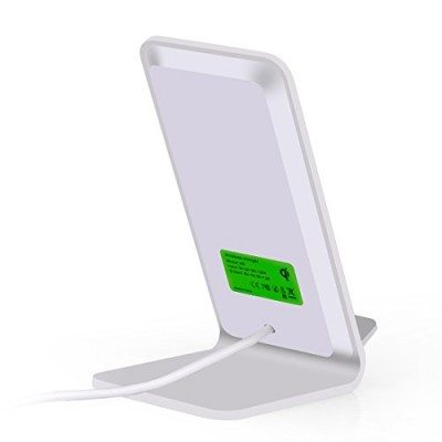 Wireless Fast Charger Qi Vertical Stand 10W Aluminum Alloy - Techly - I-CHARGE-WRA10S-6