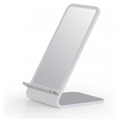 Wireless Fast Charger Qi Vertical Stand 10W Aluminum Alloy - Techly - I-CHARGE-WRA10S-1