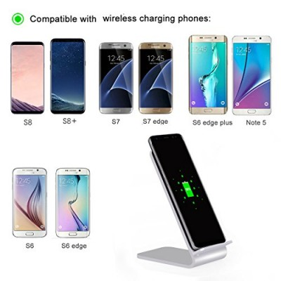 Wireless Fast Charger Qi Vertical Stand 10W Aluminum Alloy - Techly - I-CHARGE-WRA10S-3