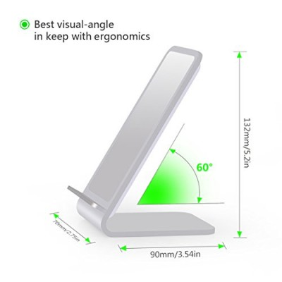 Wireless Fast Charger Qi Vertical Stand 10W Aluminum Alloy - Techly - I-CHARGE-WRA10S-4