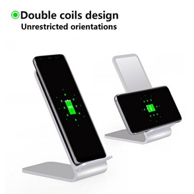 Wireless Fast Charger Qi Vertical Stand 10W Aluminum Alloy - Techly - I-CHARGE-WRA10S-2