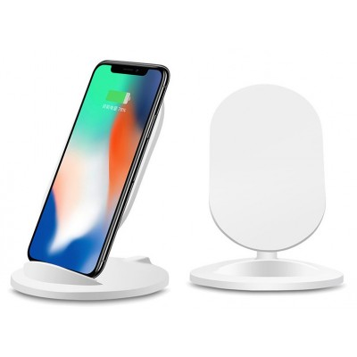 Wireless Charger Qi Stand Steady 5W White - Techly - I-CHARGE-WRM-5W-6