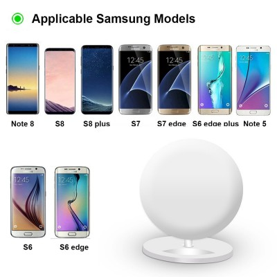 Wireless Charger Qi Vertical Stand 10W White - Techly - I-CHARGE-WRQ-10W-6