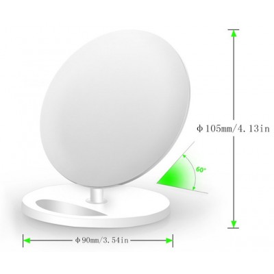 Wireless Charger Qi Vertical Stand 5W White - Techly - I-CHARGE-WRQ-5WH-4