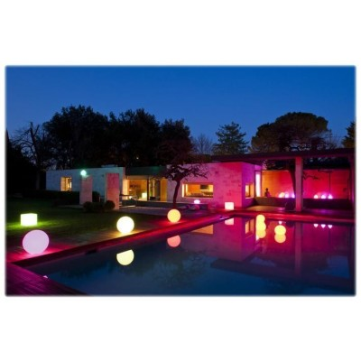 Decorative Multicolor LED Lamp Medium Sphere  - Techly - I-LED BALL-M-3