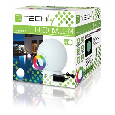 Lampada LED Multicolor da Arredo Ball Small - Techly - I-LED BALL-S-1