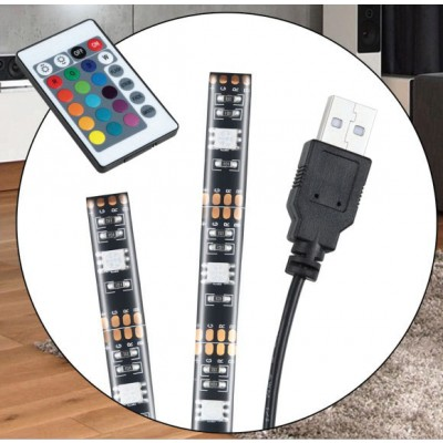 30 LED Strip 2m USB RGB for Backlighting TV A ++ - Techly Np - I-LED-TV-8