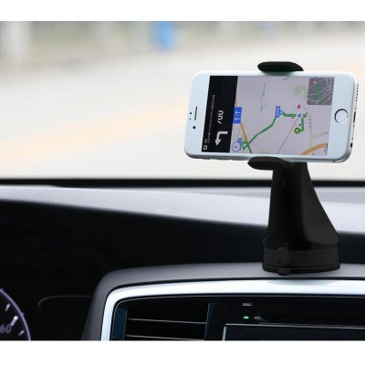 "Car Holder for iPhone and Smartphone 3.0"" - 6.0"" with Suction - Techly - I-SMART-VENT51-4"
