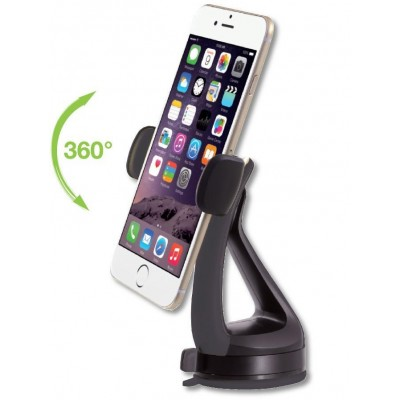 "Car Holder for iPhone and Smartphone 3.0"" - 6.0"" with Suction - Techly - I-SMART-VENT51-2"