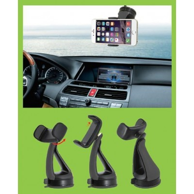 "Car Holder for iPhone and Smartphone 3.0"" - 6.0"" with Suction - Techly - I-SMART-VENT51-5"