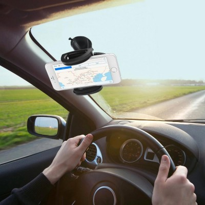Universal Car Holder for iPhone and Smartphone with Suction - Techly - I-SMART-VENT52-4