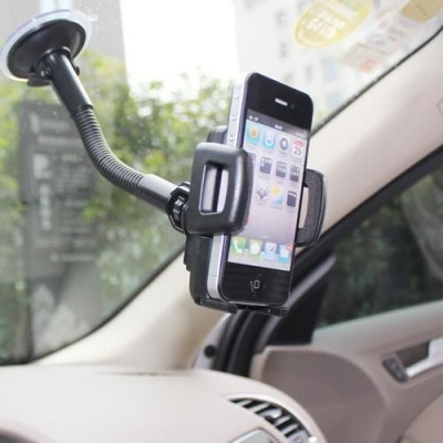 Car Sucker Stand Support for Smartphone - Techly - I-SMART-VENT-3