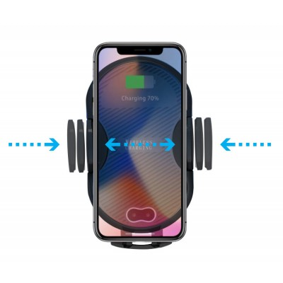 Qi Wireless car charger with sucker with automatic adjustment - Techly Np - I-SMART-WRL3-3