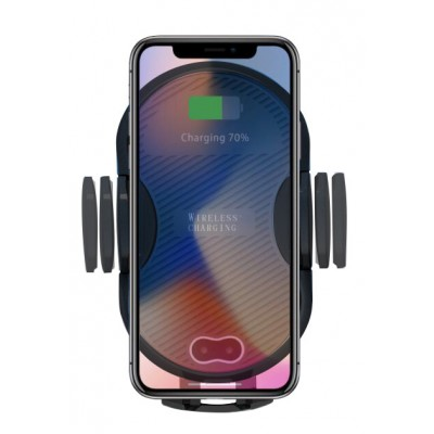 Qi Wireless car charger with sucker with automatic adjustment - Techly Np - I-SMART-WRL3-2