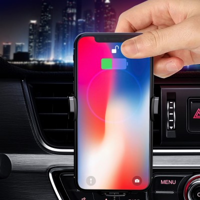 Qi Wireless car charger with sucker with automatic adjustment - Techly - I-SMART-WRL41-7