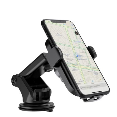 Qi Wireless car charger with sucker with automatic adjustment - Techly - I-SMART-WRL41-3