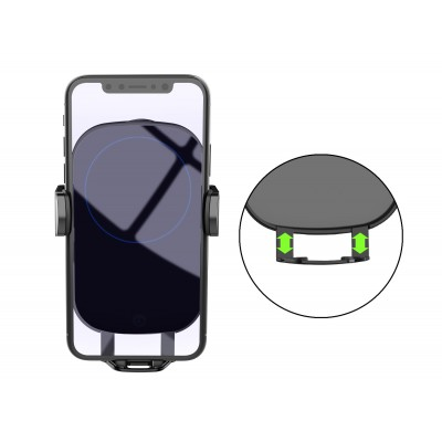 Qi Wireless car charger with sucker with automatic adjustment - Techly - I-SMART-WRL41-9