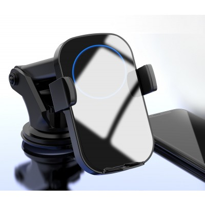 Qi Wireless car charger with sucker with automatic adjustment - Techly - I-SMART-WRL41-6