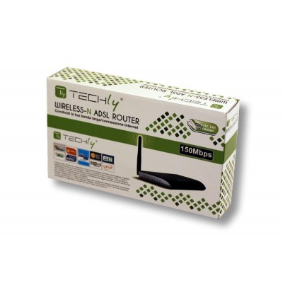 Modem Router Adsl 2+ Wireless 150N  - Techly - I-WL-ADSL-150T-1