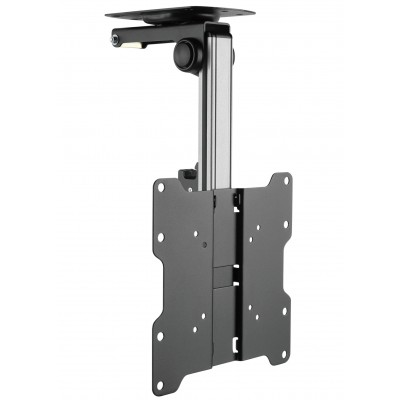 "Fold-Up Retractable Ceiling Mount for TV LED/LCD 17""-37"" Black - Techly - ICA-CPLB 222-1"