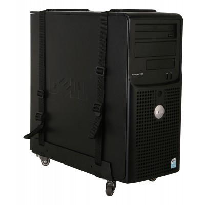 Universal PC Case Tower holder with wheels - Techly - ICA-CS 61-4