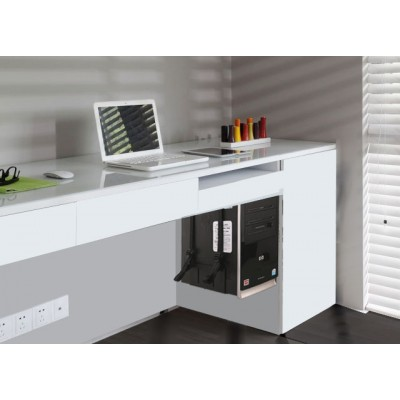 PC holder for desk side board and wall mount  - Techly - ICA-CS 62-5