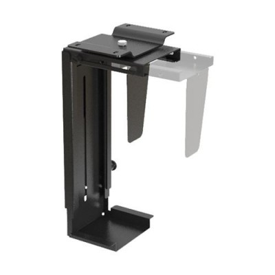 Adjustable Under-Desk /Wall CPU Mount - Techly - ICA-CS 66-4