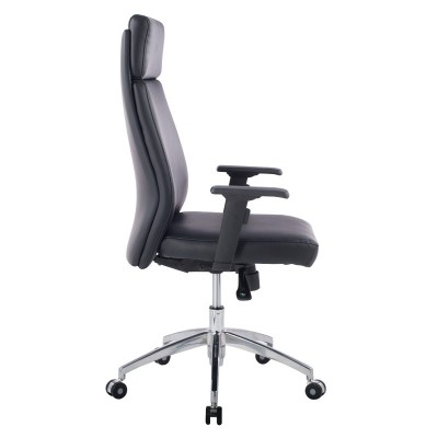 Executive Armchair with Armrests, Black - Techly - ICA-CT 073BK-4