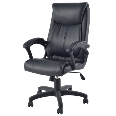 Upholstered Executive Armchair with Armrests Black - Techly - ICA-CT 091BK-2